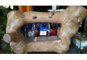 Custom Μηχανή Καφέ 2 Grp Απο φυσικό Ξύλο
