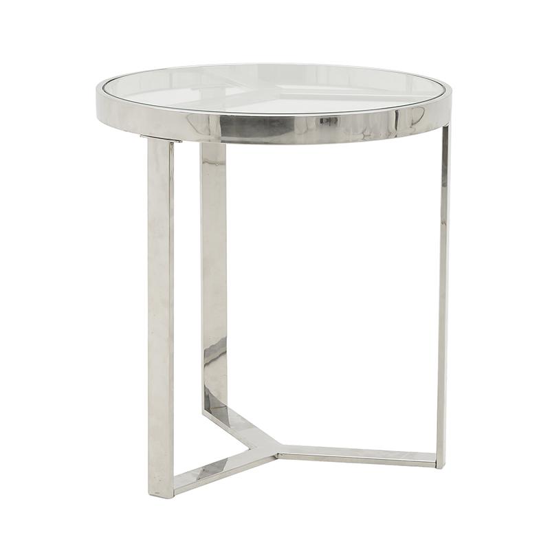 Ανοξείδωτο/Γυάλινο Βοηθητικό Τραπέζι